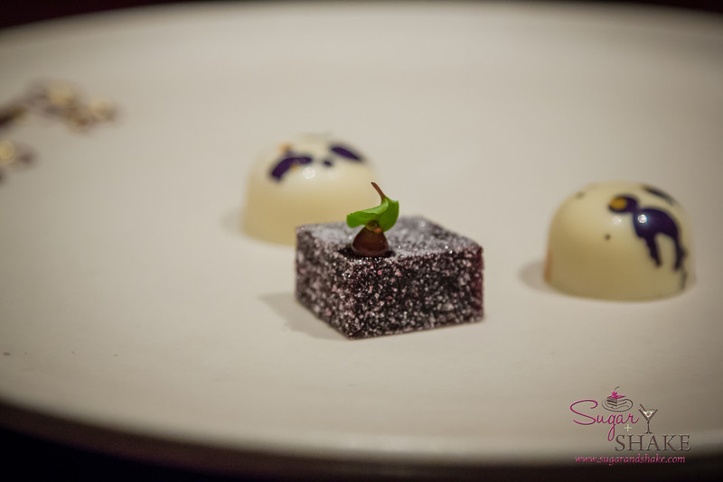 A sage-blackberry gelee and white chocolate. © 2013 Sugar + Shake