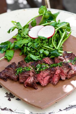 flap steak with  chimichurri