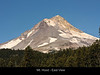 This is a near view of a great volcano - Mt. Hood which rises above Portland, Oregon. Here we can see the textures of the rock and the details of the vegetation.