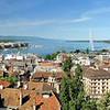 Genève - Dans les tours de la cathédrale, le panorama du lac Léman