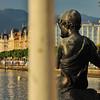 Genève - Parc Mon Repos - Le Flûtiste charmeur et le quai Wilson