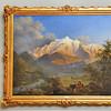 Genève - Musée d'Art et d'Histoire - Le Mont Blanc vu de Sallanches au coucher du soleil, Pierre-Louis de la Rive, 1802