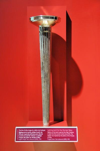Ouchy - Musée Olympique - Torche utilisée pour allumer celle du premier relayeur à Olympie