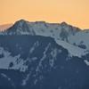 Corbeyrier - Coucher de soleil sur le mont de Grange et le Mouet
