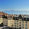 Lausanne, au balcon de l'esplanade de Montbenon