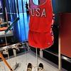 Ouchy - Musée Olympique - Equipement et chaussures de sprint de Carl Lewis, Los Angeles 1984