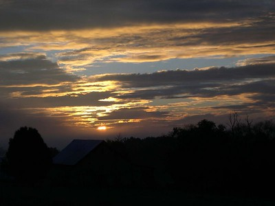 Sunrise east of Knoxville, Tennessee