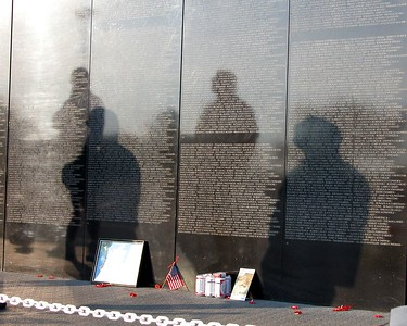 """SPIRITS OF THE WALL""  Taken July 3, 2004 Toledo, Ohio at the Traveling Wall Memorial, Westgate Shopping Center This photo raises the hair on my arms and give me goose bumps everytime I see it."