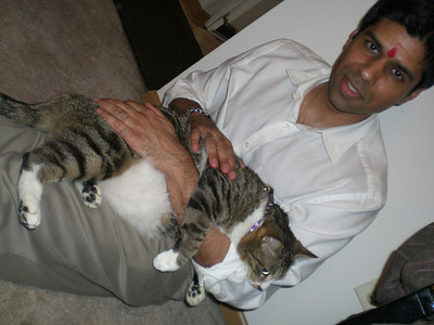 Sujal and his fat cat (Thursday)