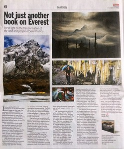 Nepali Times 17 May 2019 -   https://www.nepalitimes.com/review/not-just-another-book-on-everest/