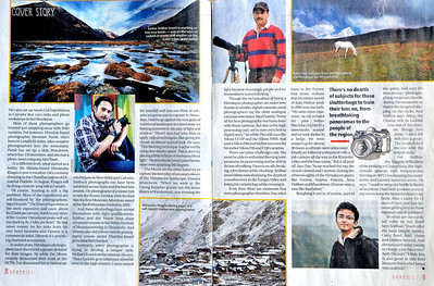 The Telegraph, Calcutta, May 29th 2011 Cover Story on five mountain photographers Pages 3 and 4