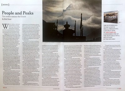 Review  -  Everest Reflections on the Solukhumbu   - Open Magazine 12th August 2019  https://openthemagazine.com/lounge/books/everest-reflections-on-the-solukhumbu/