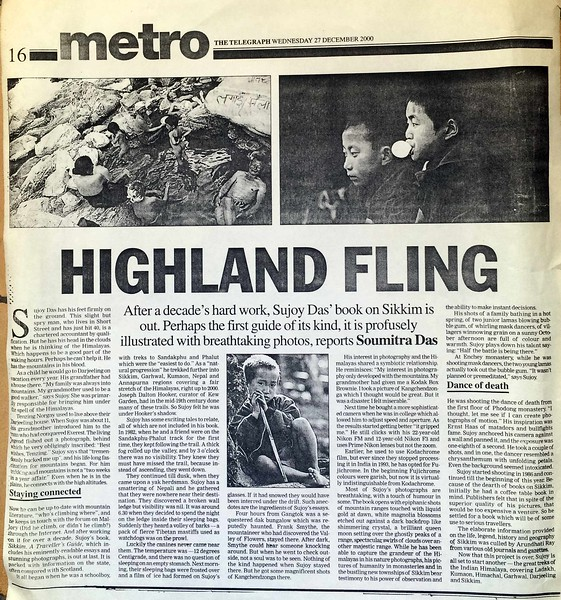 The Telegraph Metro December 27th 2000