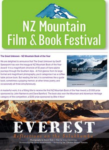 Everest Reflections on the Solukhumbu | Short List NZ Mountain Book Festival June 2020