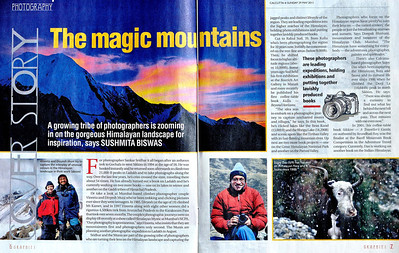 The Telegraph, Calcutta, May 29th 2011 Cover Story on five mountain photographers Pages 1 and 2