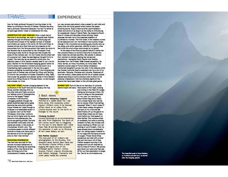 India Today Travel Plus April 2013 page 3