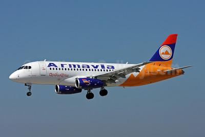 Armavia Air Company Sukhoi Superjet 100 EK95015 (msn 95007) ZRH (Andi Hiltl). Image: 906710.