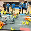 High School Robotics 3 students scrimmage using the new VEX IQ game for the 2016-2017 school year.