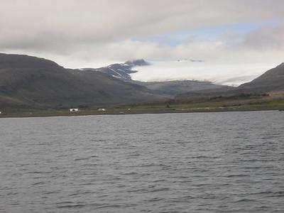 Þarna fór að losna um skýin og í kjölfarið kom hið besta veður.
