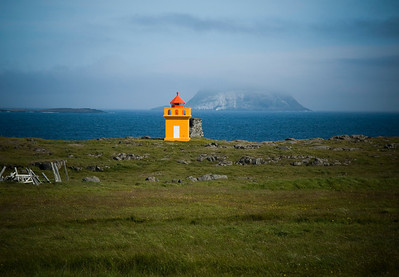 The island Skrúður behind the Lighthouse.