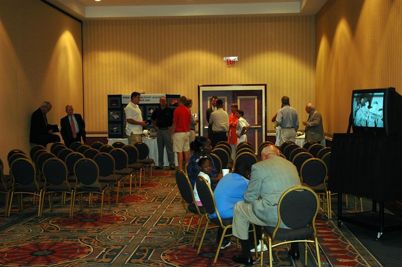 Alumni and prospective student families attend the Charlotte Open House