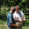 MAJ Blanchetti works with Blanton on the outdoor range.