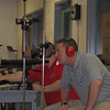 CPT Benson and MAJ Devault watch over the shooters in the indoor range.