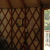A too funny thing to notice…<br /> See the metal grill along the left side of our door?<br /> Well… That was wired in… The Theft Deterrent Security System! So it would be more difficult for someone to cut through the yurt and unlock the door!<br /> Just too funny!