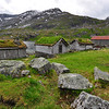 Some old buildings on the Gaularfjellet National Tourist Route