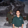Jacob poses for a picture at an exhibit in the US Marine Corps Museum.