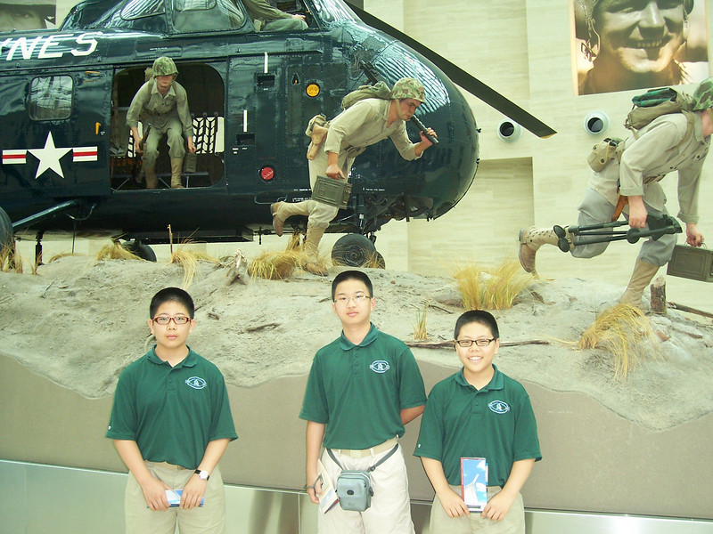 James, Jerry, and Jacob at the US Marine Corps Museum.
