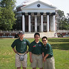 Jerry, James, and Jacob on The Lawn at the University of Virginia in Charlottesville.