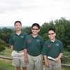 Jerry, James, and Jacob at the gardens in Monticello.