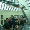 Chaplain Benson and the students pause for a photo at the US Marine Corps museum.