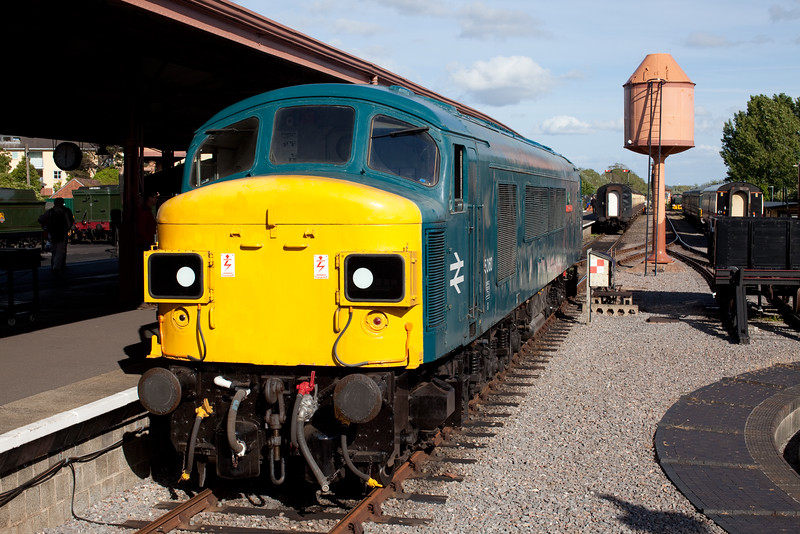 "Summer Saturdays 2015 'style'! Looking and sounding magnificent, 45060 ""Sherwood Forester' runs around its train at Minhead after arriving with the 15.55 service from Bishops Lydeard."