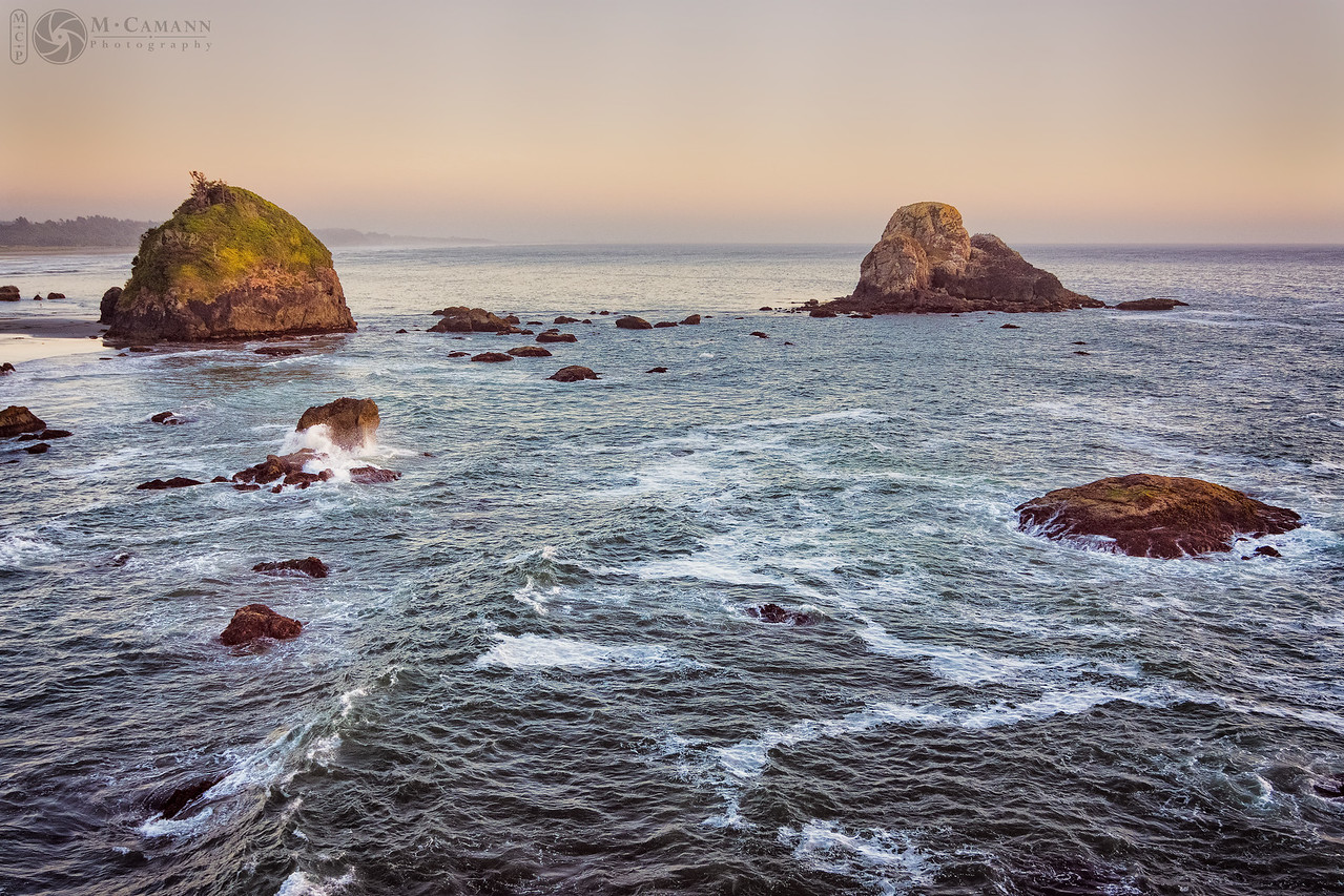 Luffenholtz Beach from Tepona Point, Humboldt County, California.