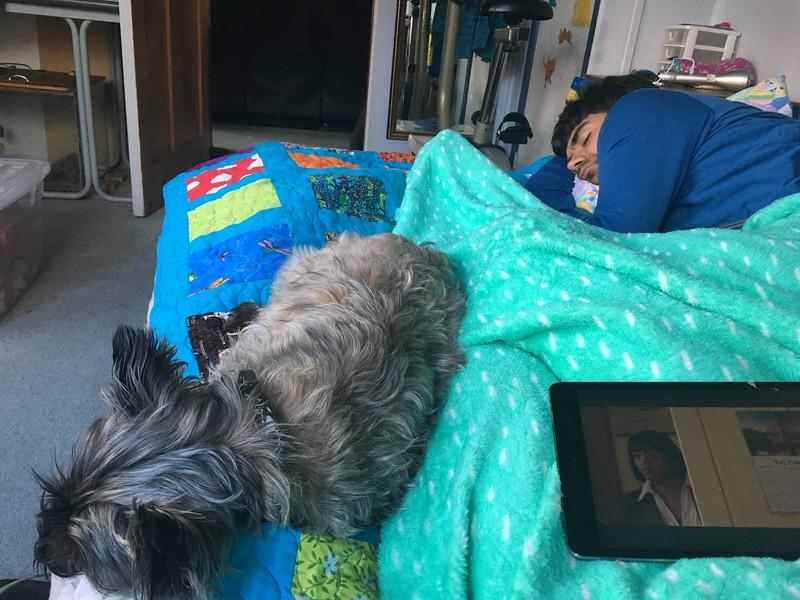 Graham and Mana napping