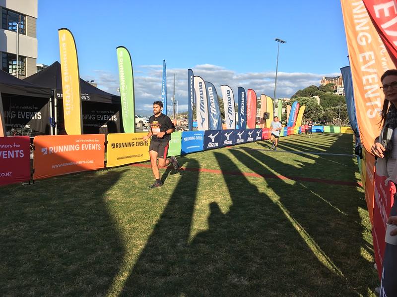 Graham finishing Corporate Challenge 5km