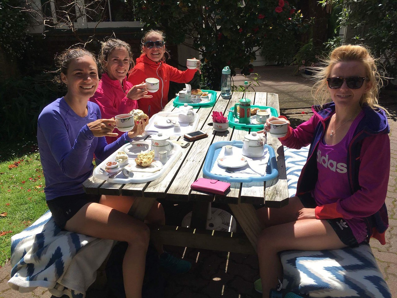 Yorkshire tea with scones after the run
