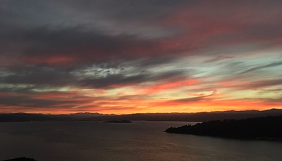 The last sunrise in Wellington this year