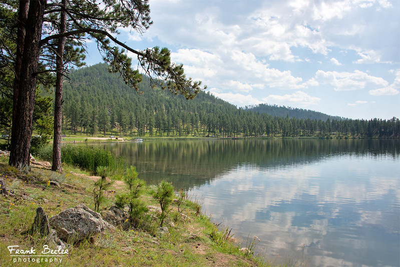 Stockade Lake on the drive to Custer State Park