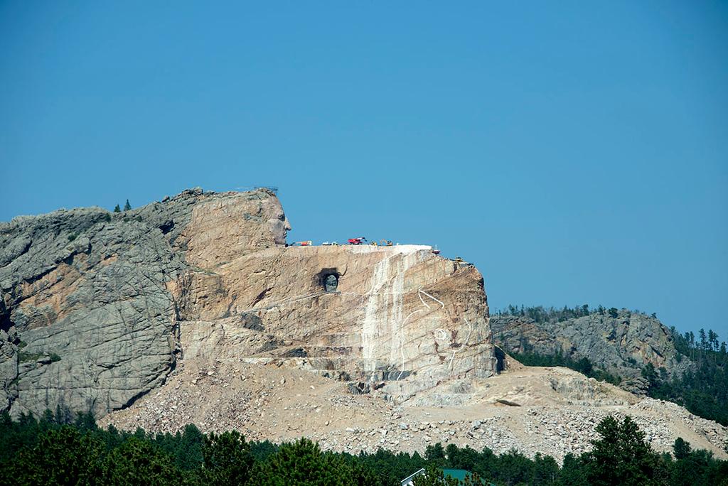 Crazy Horse is still under construction