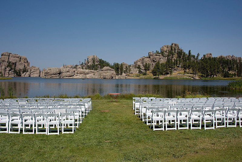 Looks like they were setting up for a wedding