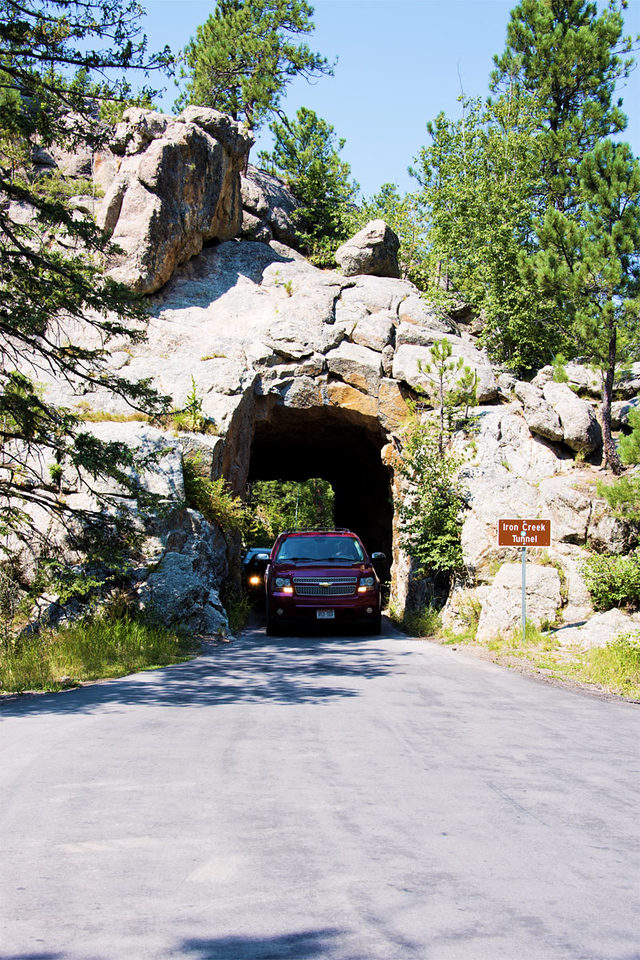 The Iron Creek Tunnel is 9 ft wide and 12 ft 3 inches high