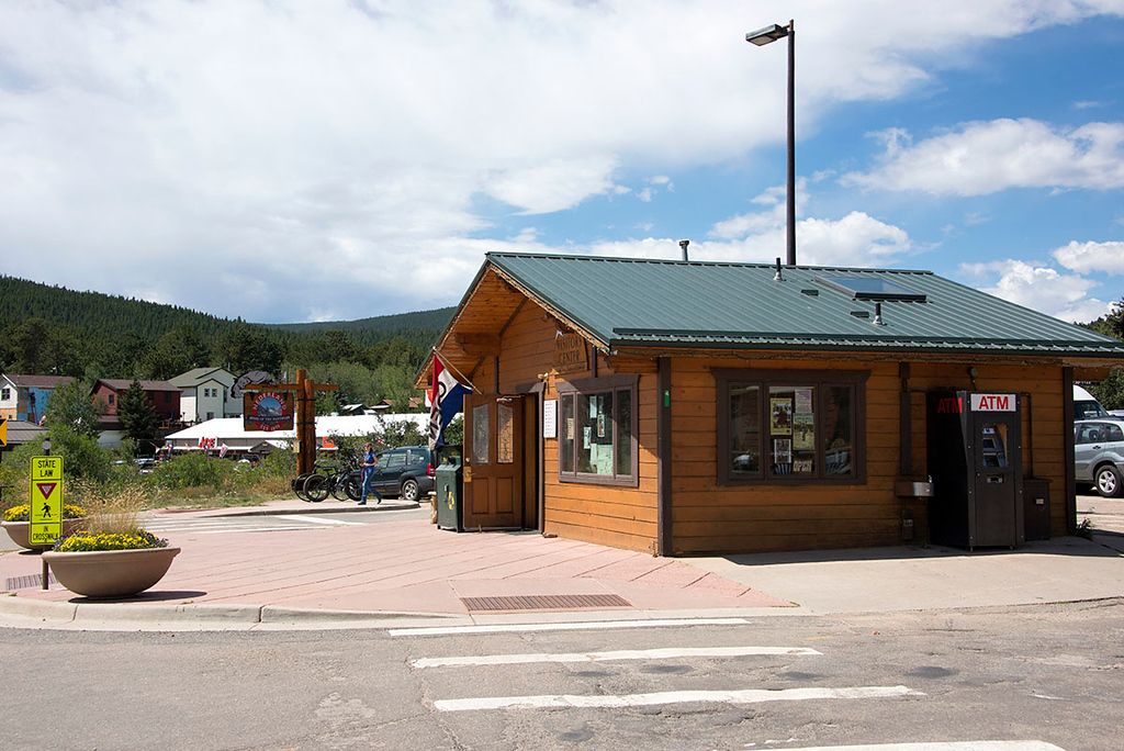 This is the Nederland Visitor Center, outside restrooms out back!