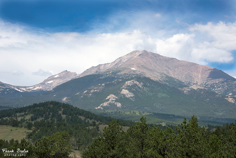 Mount Meeker on the right and Longs Peak behind it on the left.