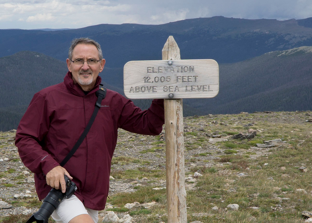 I made it to the 12,005 foot elevation sign post on the Alpine Ridge Trail