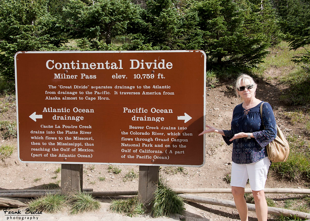 Martha explains the Continental Divide