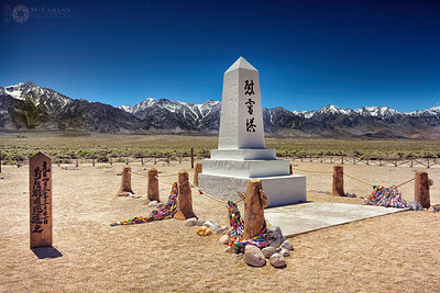 The cemetary at Manzanar National Historic Site, Owens Valley, California.  June 12, 2017.