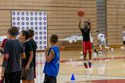 Yogi Ferrell BB Camp at Park Tudor_7/21/18